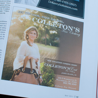 Ad's for Colleton's East - Jennings King Photography