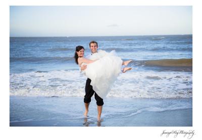 Virginia & Thomas   After Wedding Session   Folly Beach, SC